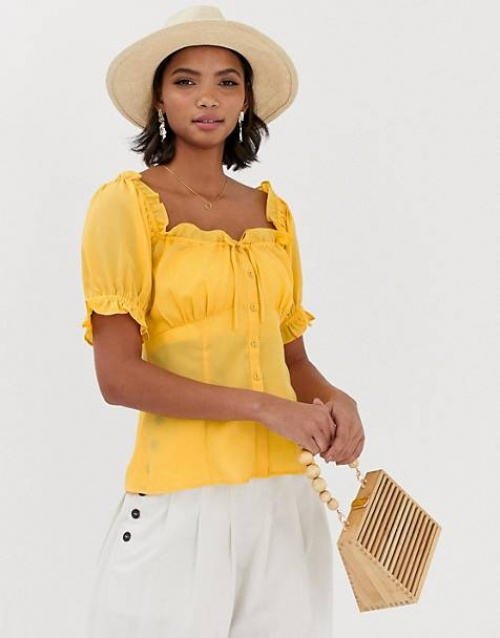ASOS DESIGN - Top à encolure carrée