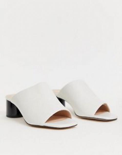 Office - Mila - Sandales en similicuir avec talon contrastant