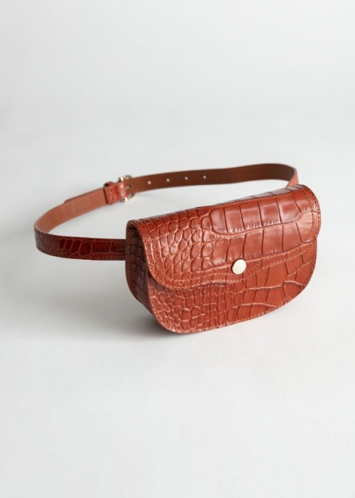 & Other Stories - Structured Leather Croc Beltbag