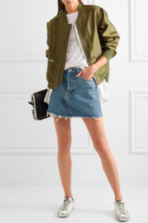 Re/Done - Mini-jupe en jean effet vieilli
