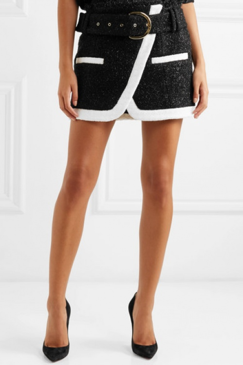 Balmain - Mini-jupe effet portefeuille