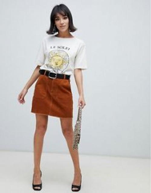 Stradivarius - Mini-jupe en velours côtelé