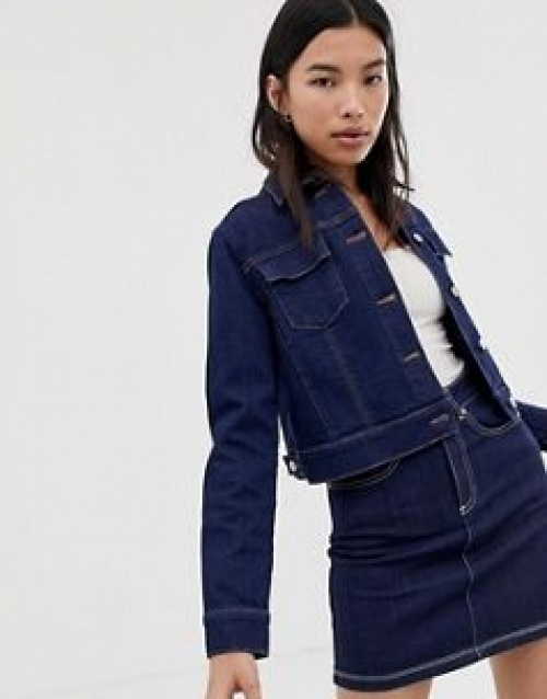 Northmore Denim - Veste courte en jean brut de coton bio