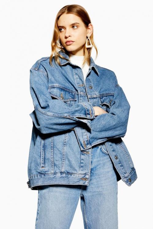 Topshop - Veste en jean ample Papa