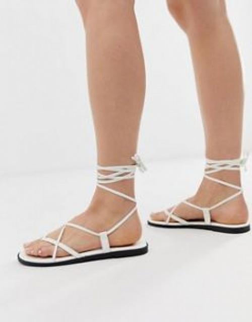 ASOS DESIGN - Fallow - Sandales à nouer sur la jambe