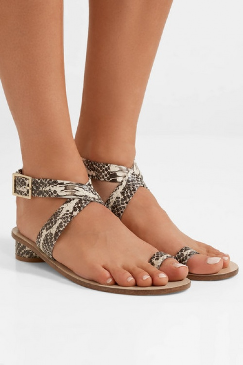Tibi - Sandales en cuir effet serpent Hanson