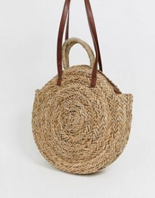 South Beach - Grand sac rond en paille