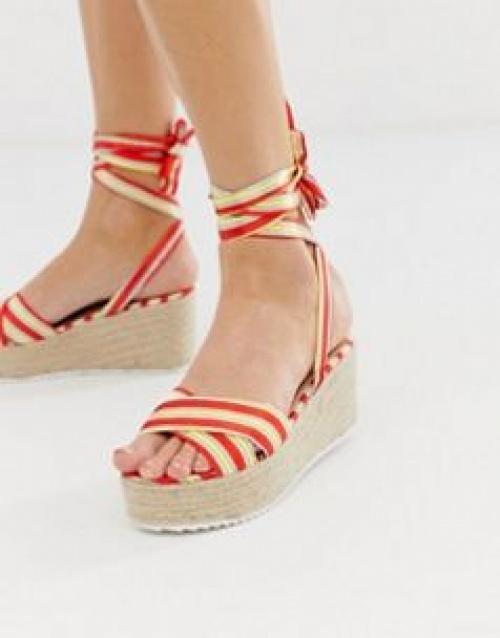 Glamorous - Sandales compensées style espadrilles