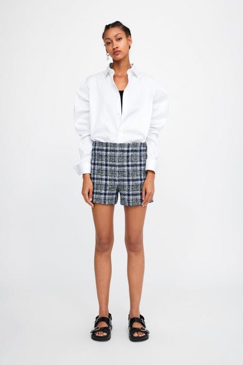Zara - Short à carreaux