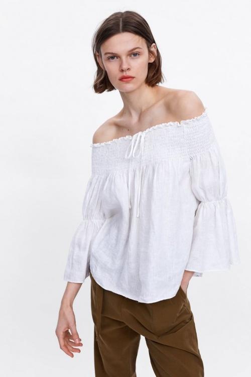 Zara - Top en lin