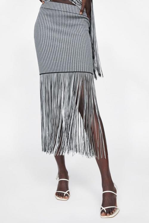 Zara - Jupe à franges