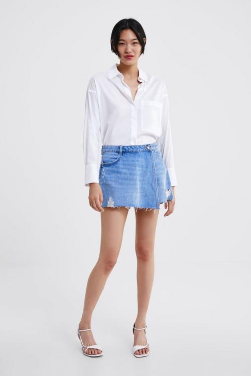 Zara - Jupe culotte en jean
