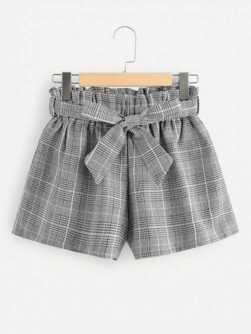 Shein - Short à carreaux