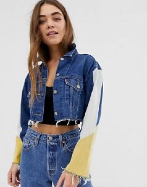 Levi's - Veste en jean courte en color block