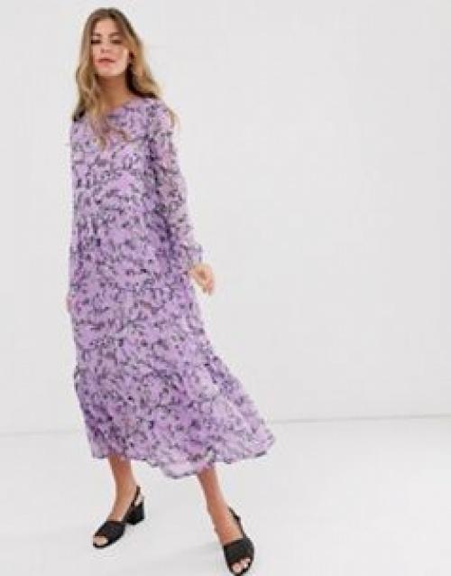 Pieces - Robe longue à fleurs