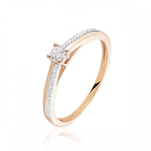 Histoire d'Or - Bague Solitaire Alexandra Or Rose