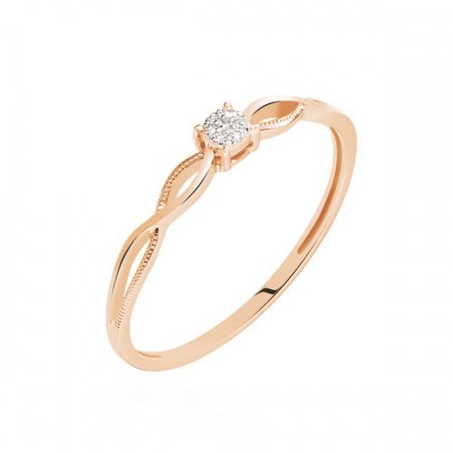 Histoire d'Or - Bague Or Rose Elssa Et Diamant