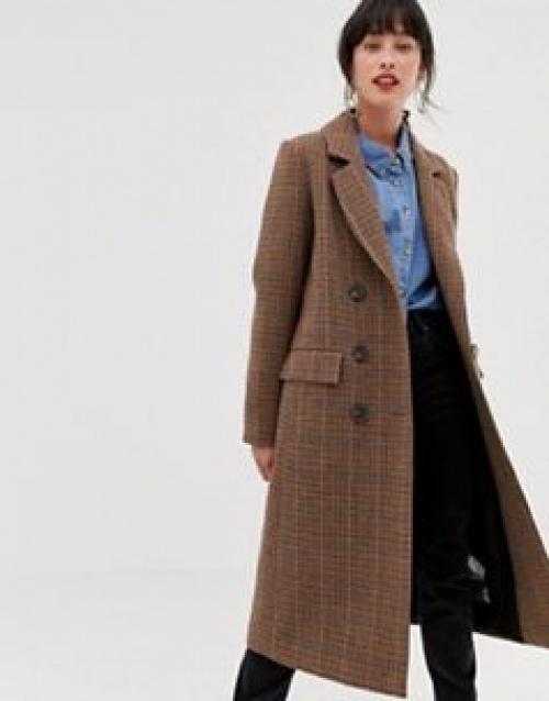 Warehouse - Manteau long habillé à carreaux