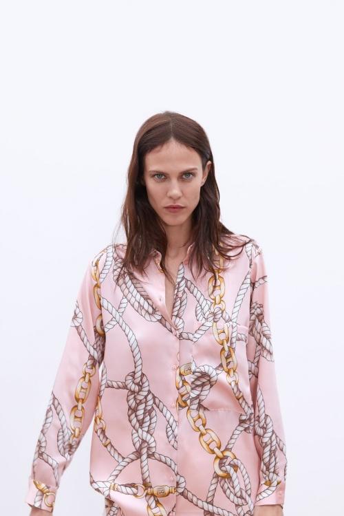 Zara - Chemise à imprimé noeuds