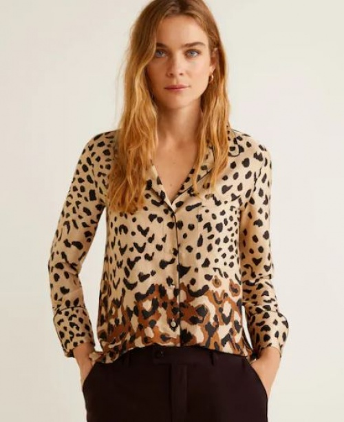 Mango - Chemise imprimé léopard