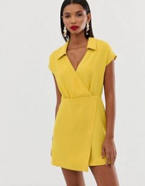Mango - Robe croisée courte