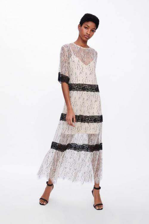 Zara - Robe en matières variées