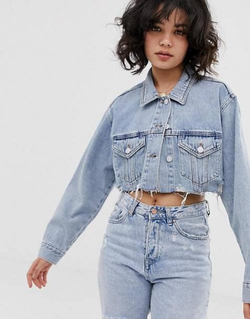 Pull & Bear - Veste en jean courte