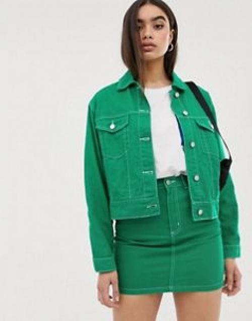 Missguided - Veste en jean d'ensemble