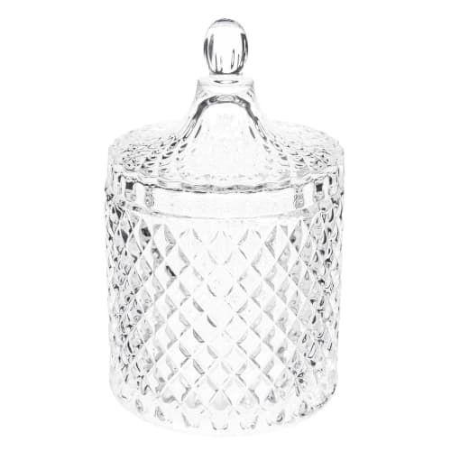 Maisons du Monde - Bonbonnière en verre H 18 cm