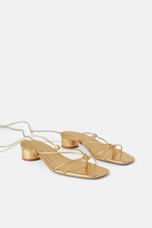 Zara - Sandales à noeuds