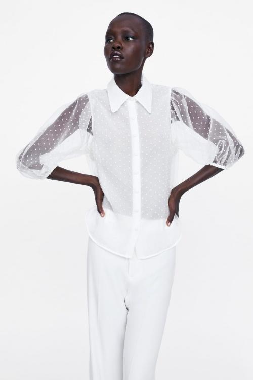 Zara - Blouse à transparence