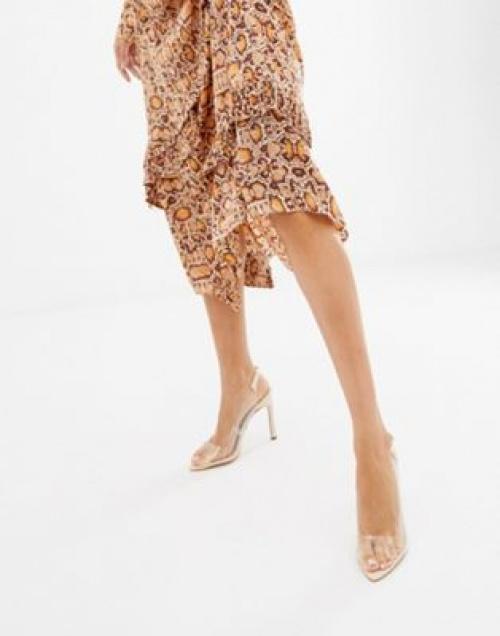 Asos Design - Pilot - Chaussures à talons hauts et bride arrière transparente