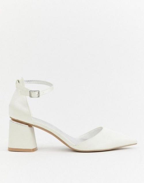Asos Design - Stardust - chaussures à talon mi-haut et bout pointu