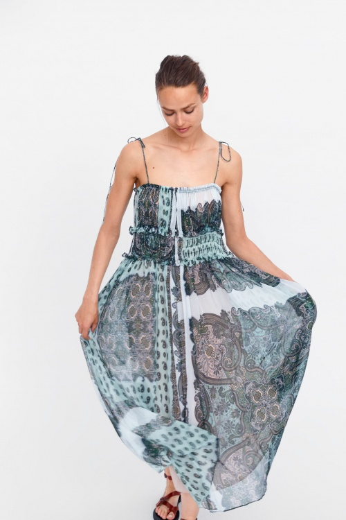 Zara - Robe à imprimé