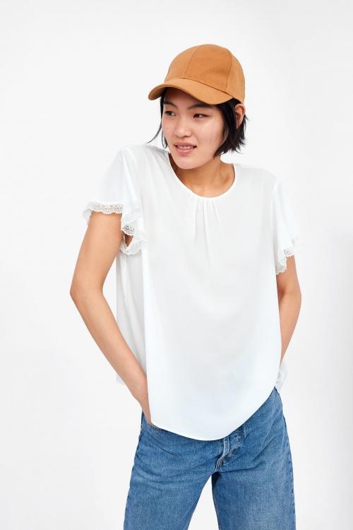 Zara - Top à dentelle