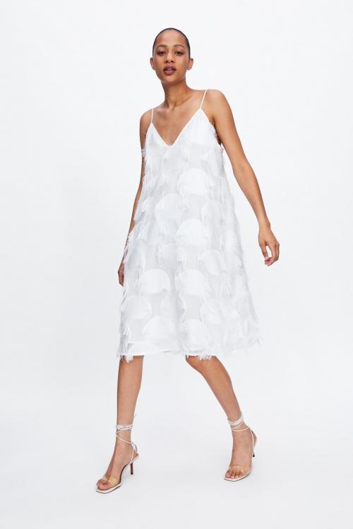 Zara - Robe à franges