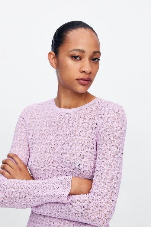 Zara - Pull Lilas