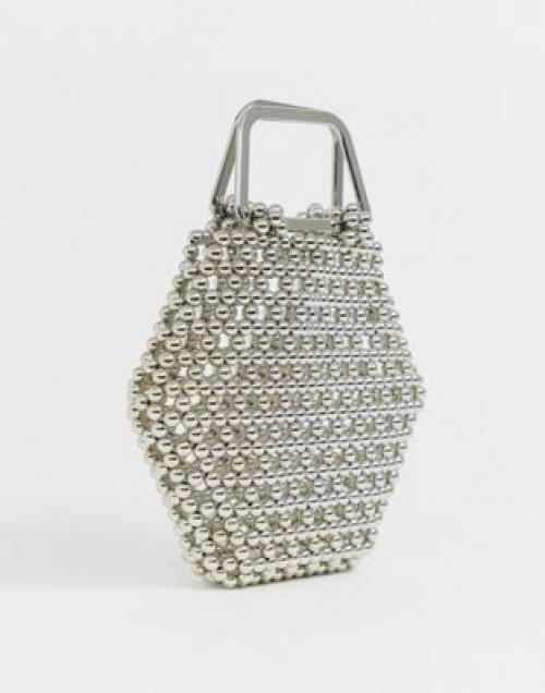 Asos Edition - Sac de forme hexagonale avec perles