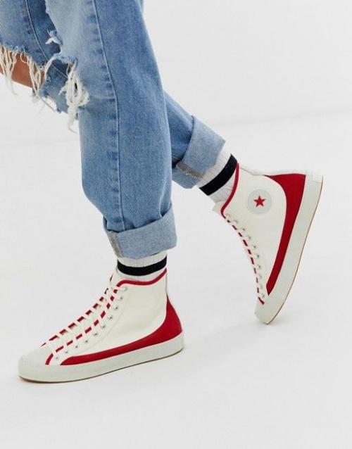 Chuck Taylor Sasha Baskets vintage Rouge et blanc