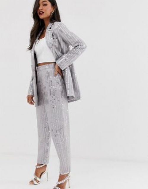 Asos Edition - Pantalon orné de sequins