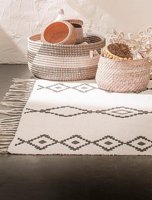 Kiabi - Tapis à franges et motifs
