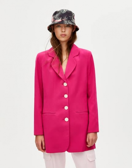 Veste tailleur rose style robe