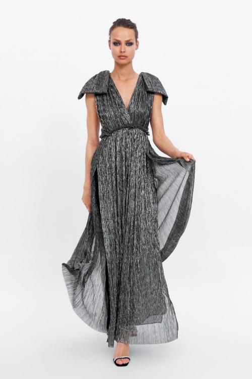 Zara - Robe métallisée