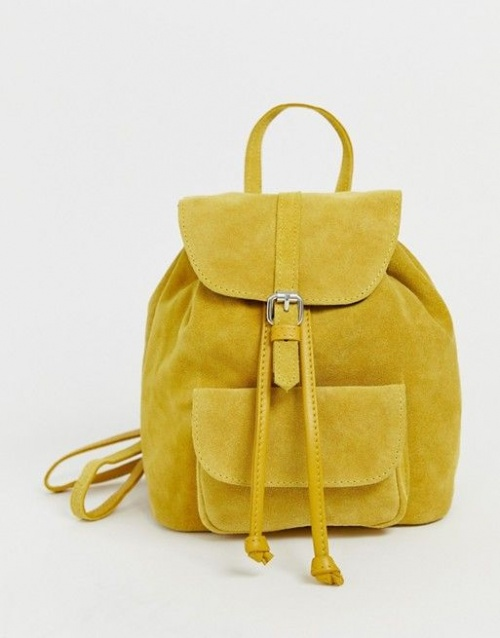 ASOS - Mini sac à dos en daim