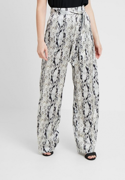 Missguided - Snake Tie Hem Wide Leg Trouser