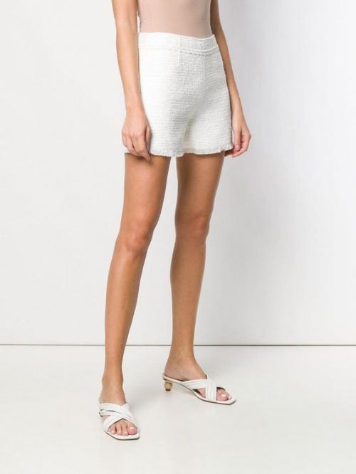 Ermanno Ermanno - Short tweed blanc