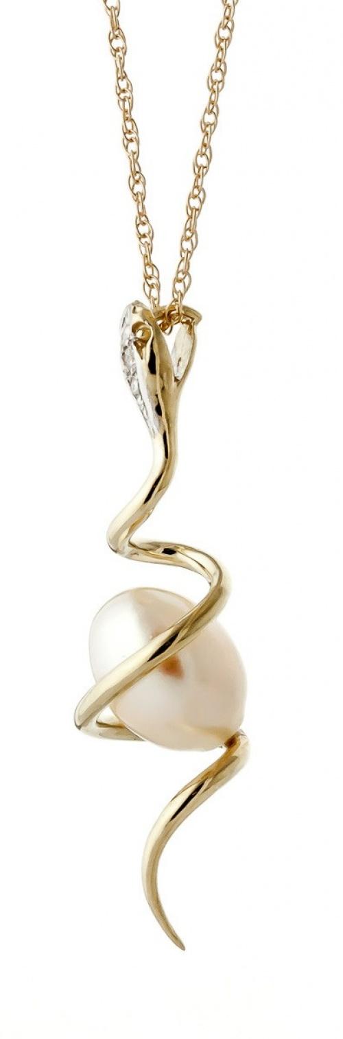 QPJ - Collier serpent et perle