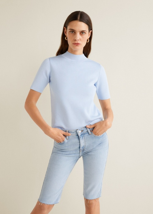 Mango - Bermuda en jean