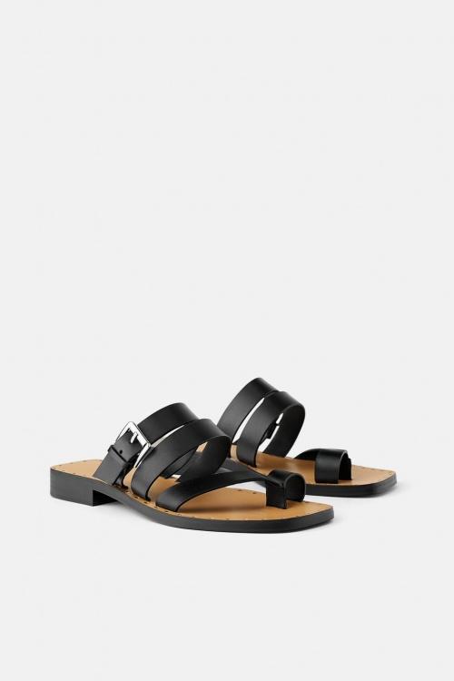 Zara - Sandales plates