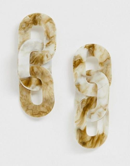 ASOS DESIGN - Boucles d'oreilles en résine entrelacées